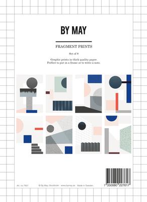 """Druck """"Fragments"""" von BY MAY, Set mit 8 verschiedenen Motiven, geometrische Drucke"""