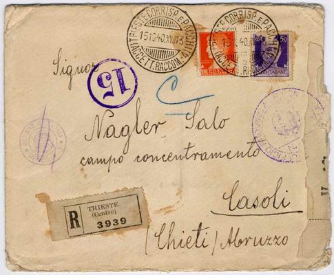 Busta lettera indirizzata a Salo Nagler