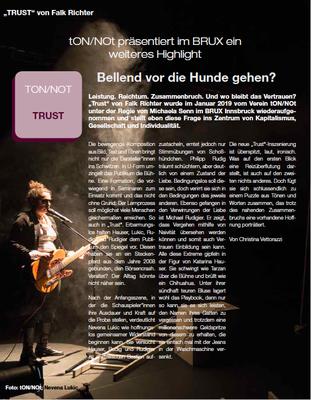 """""""darstellendes SPIEL"""" // Ausgabe Nr. 1/2019, Seite 38 // Kritik von Christina Vettorazzi"""