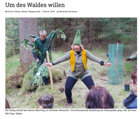 Oberländer Rundschau // Ausgabe Reutte // Titelstory von Michaela Weber // 21. Mai 2019