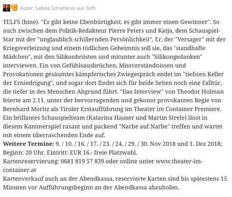 meinbezirk.at vom 2. November 2018 // von Sabine Schletterer