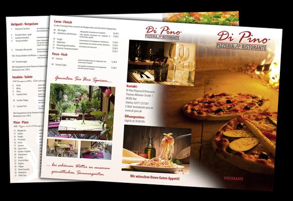 Speisekarte Pizzeria Di Pino Aue