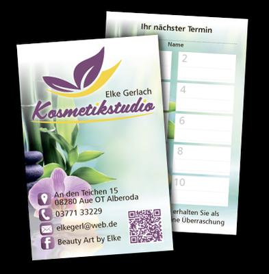 Visitenkarte Kosmetikstudio Gerlach