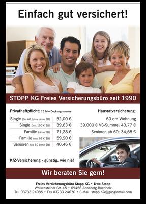 Stopp KG Versicherung Plakat