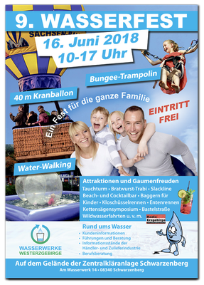 Wasserfest der Wasserwerke Westerzgebirge Plakat