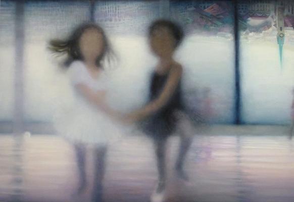 """""""eine verkehrte Welt""""<br>oil, canvas110x160cm"""
