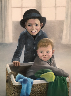 """Der Anfang der Erinnerung 3""<br>oil, canvas70x50cm<br>private collection"