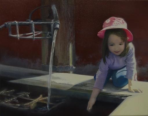 """zum Anlass nehmen""<br>oil, canvas32x41cm<br>private collection"