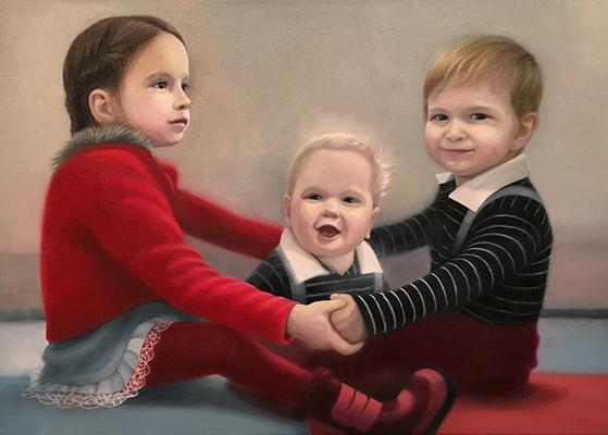 """Der Anfang der Erinnerung 5""<br>oil, canvas50x70cm<br>private collection"
