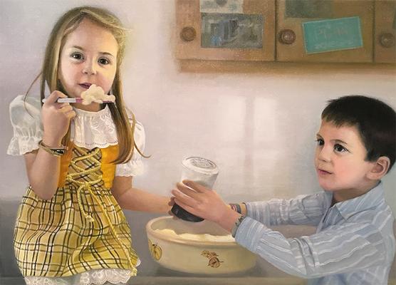 """Der Anfang der Erinnerung 2""<br>oil, canvas50x70cm<br>private collection"