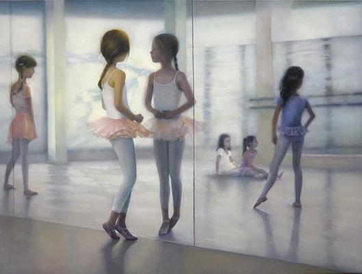 """im Spiegel""<br>oil, canvas60x80cm<br>private collection"