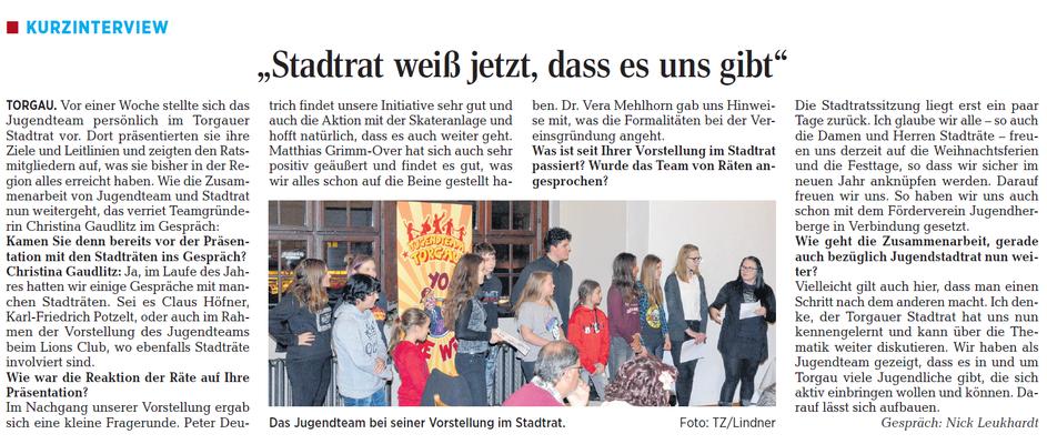 Torgauer Zeitung vom 20.12.2017