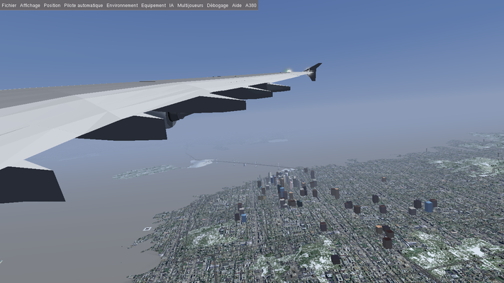Fly around San Francisco city.