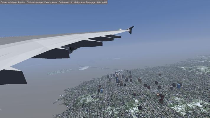 Fly around San Francisco city.