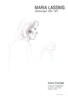 Maria Lassnig Plakat Poster
