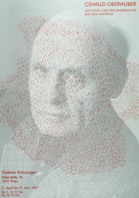 Oswald Oberhuber Poster Plakat Selbstporät