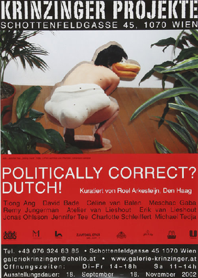 Politically correct Dutsch Poster Plakat Krinzinger Projekte
