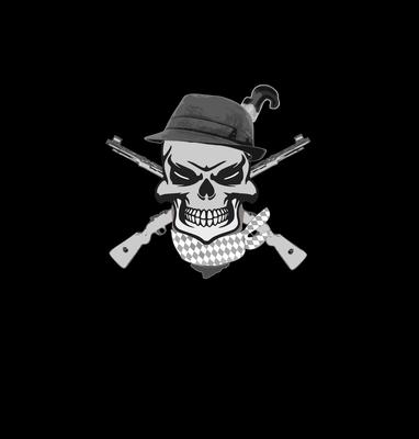 Der Totenkopfbayer mit Hut und Schneithackl