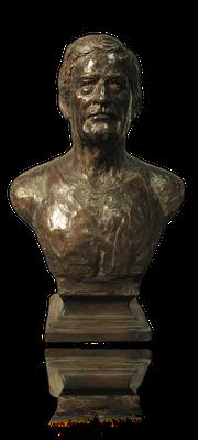 Buste, en bronze du sauveteur Durécu, au Havre, Sculpteur, Langloÿs