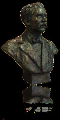 Buste, en bronze d'Eugène Ténot, à Lareulle, sculpteur, Langloÿs