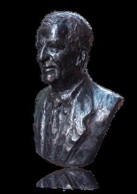 Buste, en bronze de Michel Bezian, à Gujan-Mestras, Sculpteur, Langloÿs