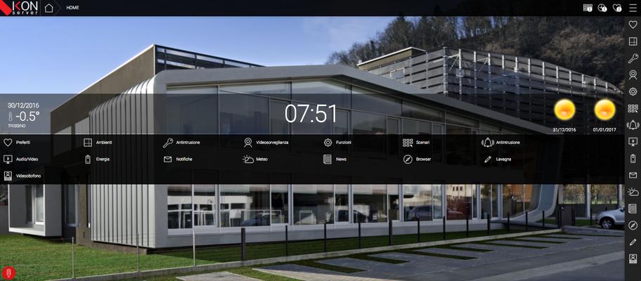 Supervisione del sistema domotico mediante webserver