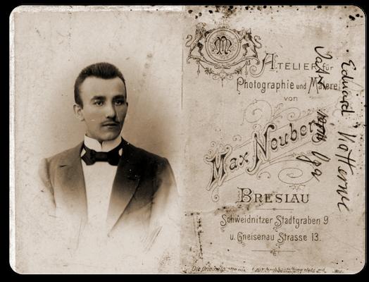 Eduard-Gustav Katterwe Schneidermeister in Breslau