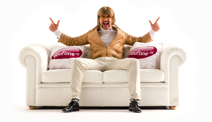 A commercial photoshoot for Youfone