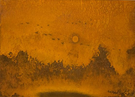 日が暮れる / Sunset / H250×W350mm / 04.2015