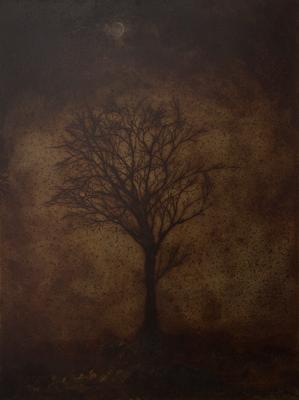 夜の木 / A tree of the night / H210×W280mm / 07.2018