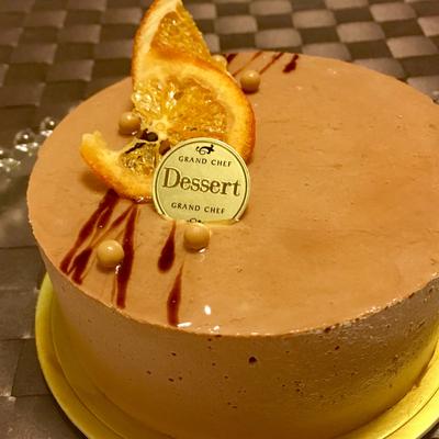 チョコレートとオレンジのケーキ