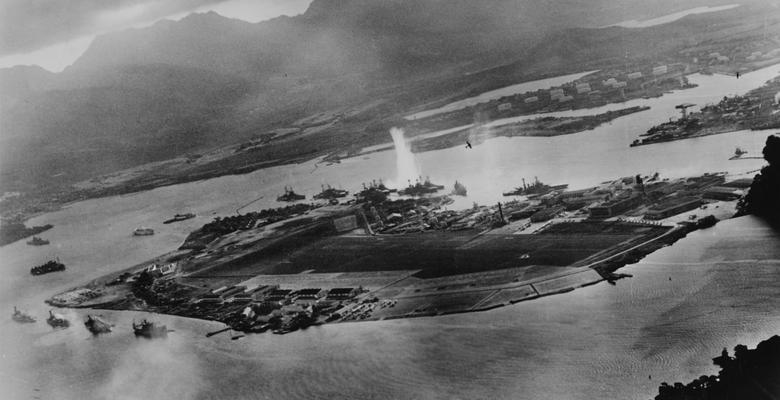 Pearl Harbour attacked by Japanese forces