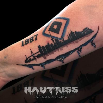 HSV-Tattoo, Hamburg-Tattoo, Nur der HSV