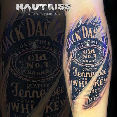 Logo-Tattoo, Label-Tattoo, Jack Daniel's-Tattoo