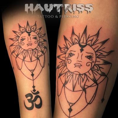 Exotisches Tattoo-Motiv, Sonne