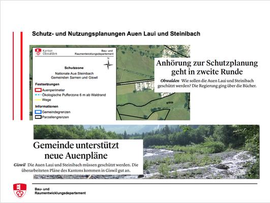 Schutz- und Nutzungsplanungen Auen Laui und Steinibach