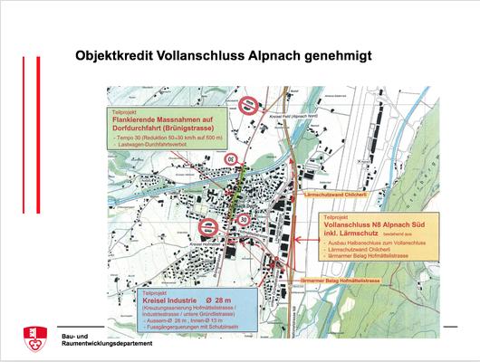 Objektkredit Vollanschluss Alpnach genehmigt