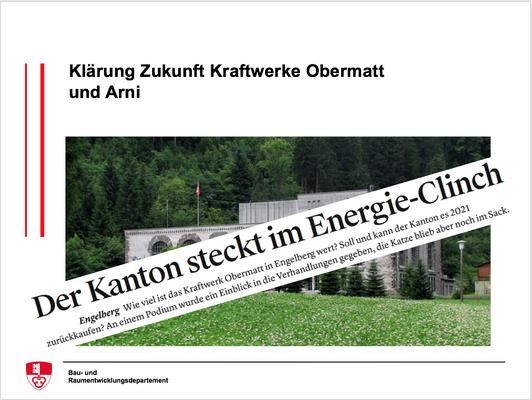 Klärung Zukunft Kraftwerke Obermatt und Arni