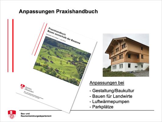 Anpassungen Praxishandbuch bei Gestaltung/Baukultur, Bauen für Landwirte, Luftwärmepumpen, Parkplätze