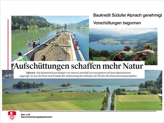 Baukredit Südufer Alpnach genehmigt, Vorschüttungen begonnen