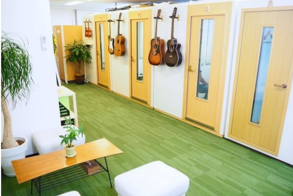 Music school with small sound proof rooms