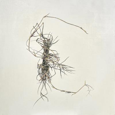"Weed Bundle, Oil on Canvas 15"" x 15"" 2019"
