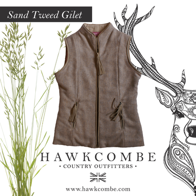 Beige tweed gillet and flora, SociaSocial Media Graphics created by Design By Pie, Freelance graphic designer, North Devonl Medi Graphics created by Design By Pie, Freelance graphic designer, North Devon