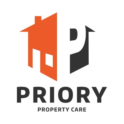 Priory Property Care, Wellington, logo design by Design By Pie, Freelance Graphic Designer, North Devon