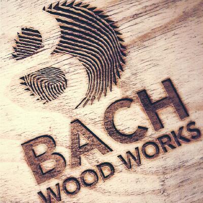 Bach Woodworks logo design by Design By Pie, Freelance Graphic Designer, North Devon