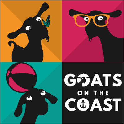 Goats on the Coast logo design by Design By Pie, Freelance Graphic Designer, North Devon