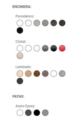 colores Logic mesa de cocina y comedor cancio