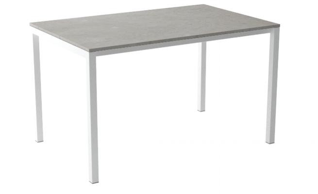 Mesa de cocina Logic encimera de melamina, cristal o porcelánico cancio