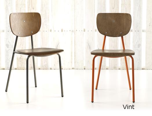 Vint crom2 silla apilable vintage madera