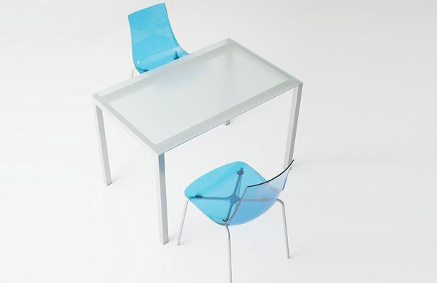 mesa de cocina Logic cristal translúcido cancio